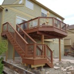 stairs leading up to 2nd story deck