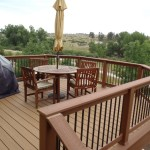 seating area of 2nd story deck