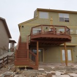 front view of 2nd story deck