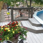 pool deck steps and rail