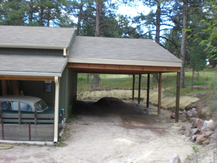 car port from the front